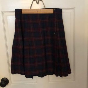 Plaid Pleat Skirt